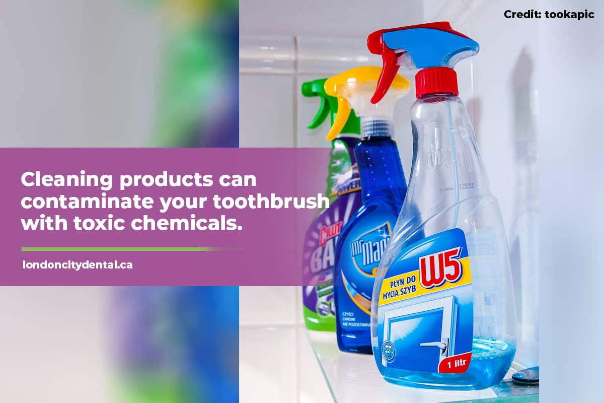 Cleaning products can contaminate