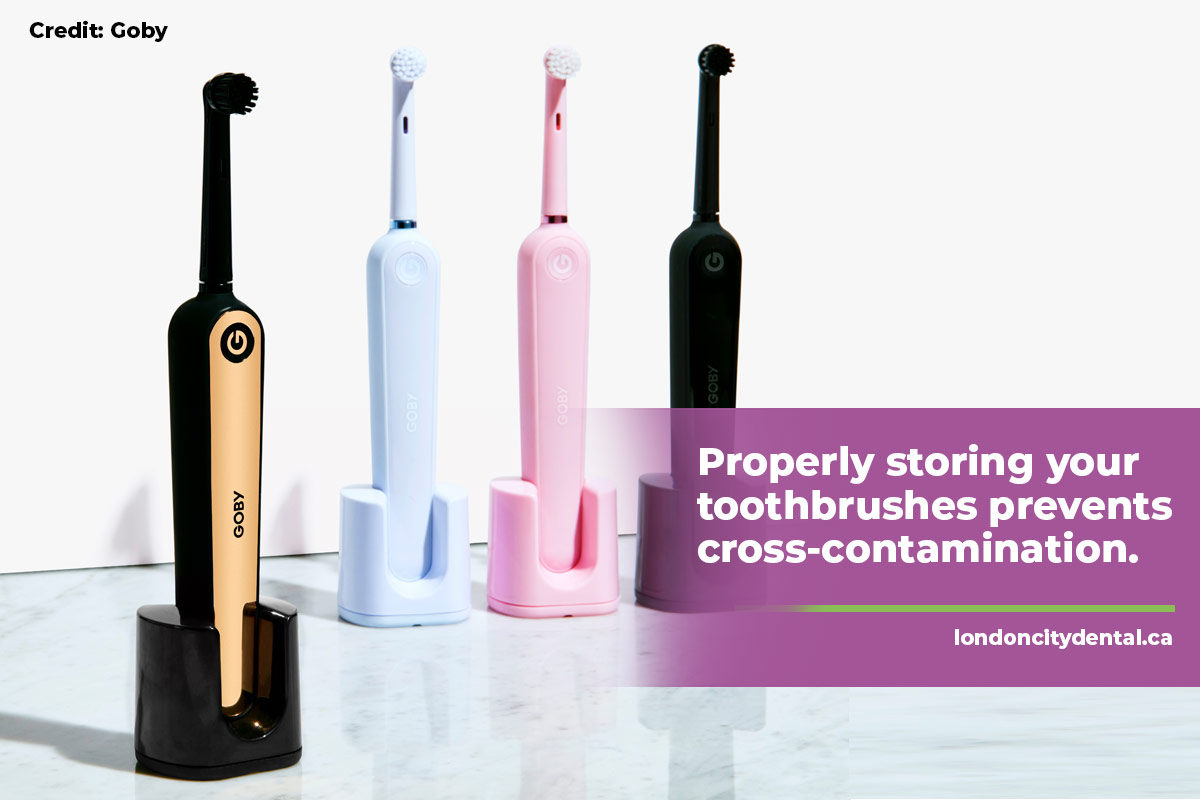 Properly storing your toothbrushes