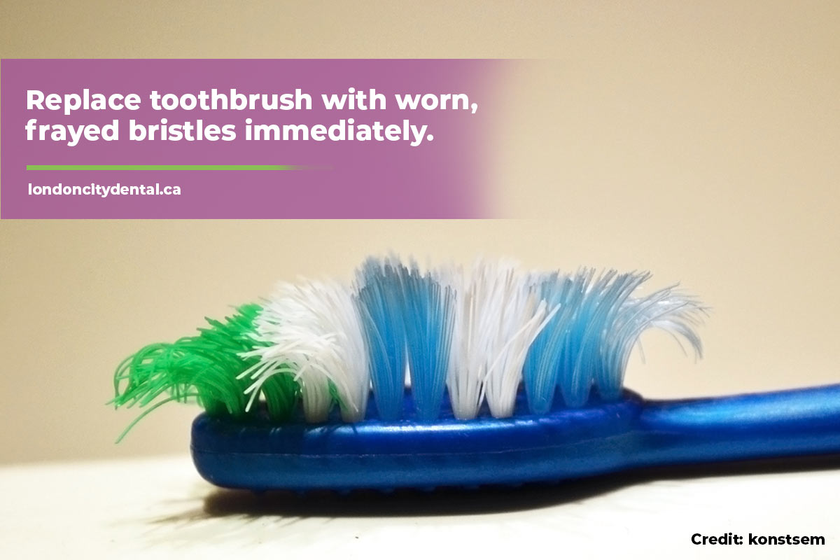 Replace toothbrush with worn